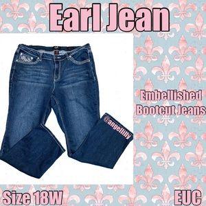 Earl Jean Embellished Bootcut EUC